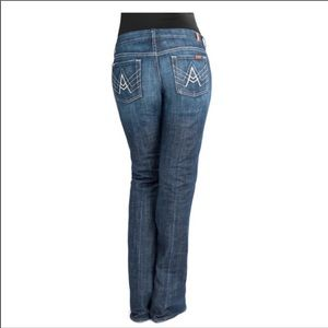 """7 For All Mankind """"A Pocket"""" Flare Jeans Size 31"""